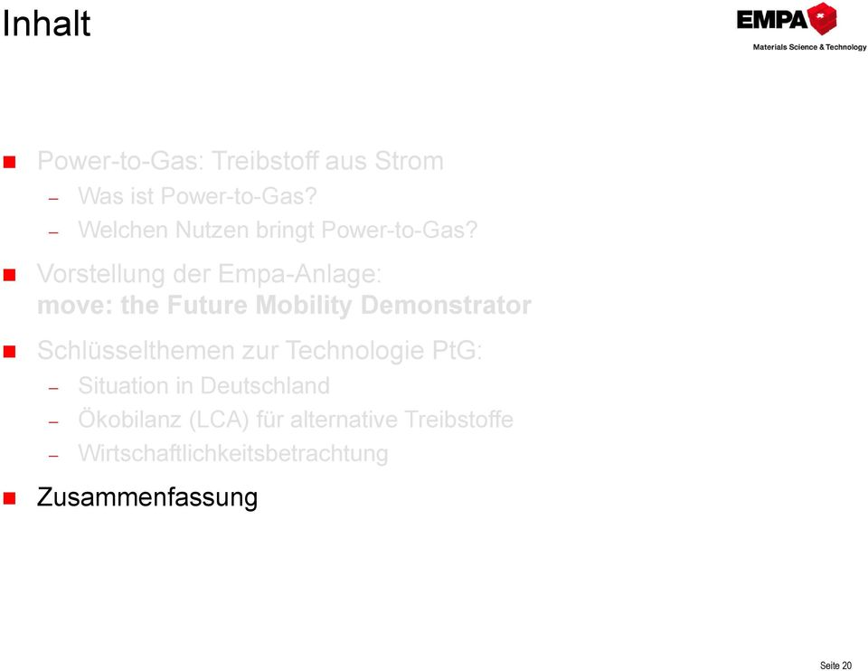 Vorstellung der Empa-Anlage: move: the Future Mobility Demonstrator