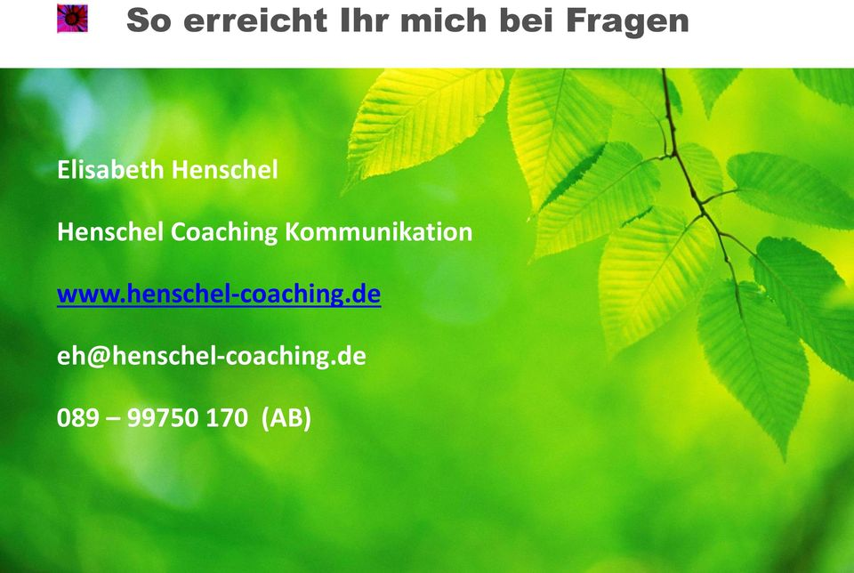 Kommunikation www.henschel-coaching.