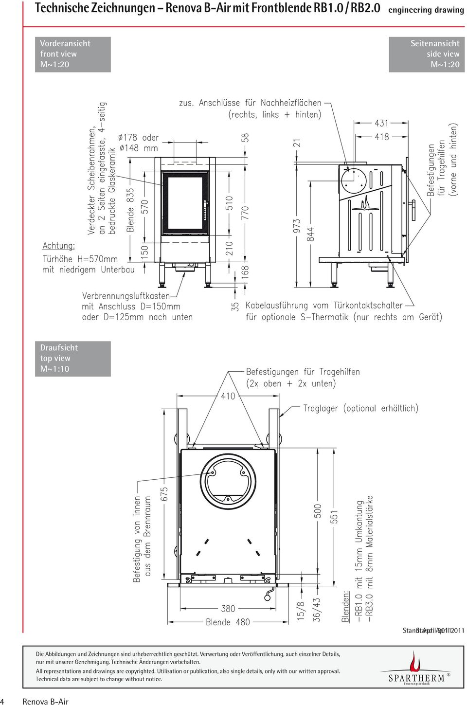 0 engineering drawing Vorderansicht front view