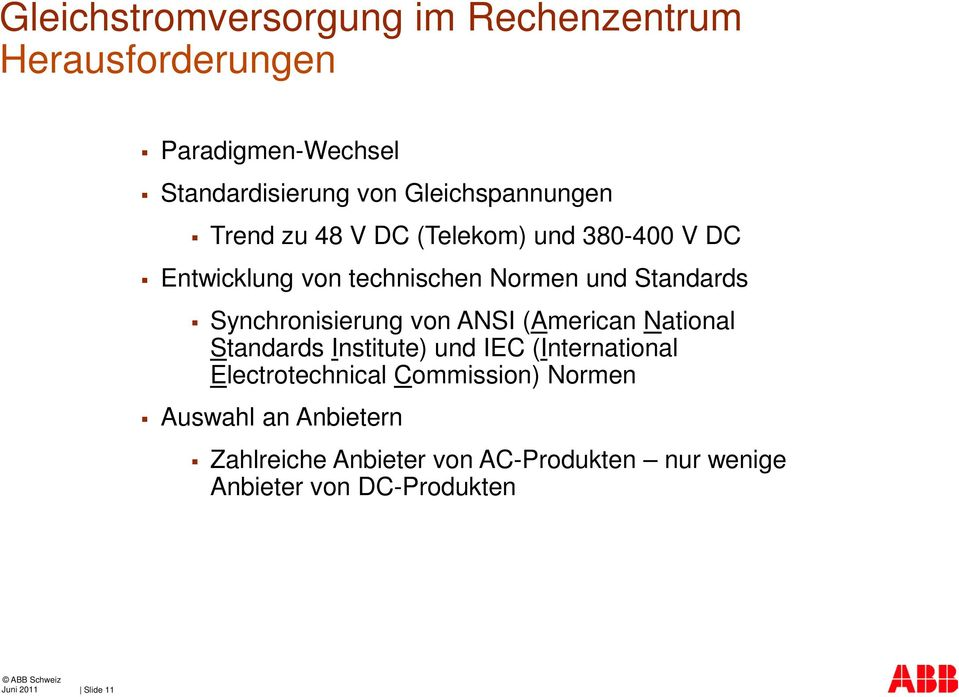 Synchronisierung von ANSI (American National Standards Institute) und IEC (International Electrotechnical