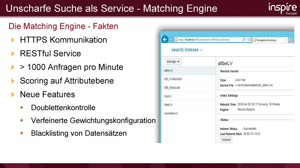 Minute Scoring auf Attributebene Neue Features