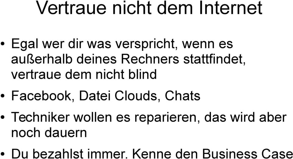 Facebook, Datei Clouds, Chats Techniker wollen es reparieren,
