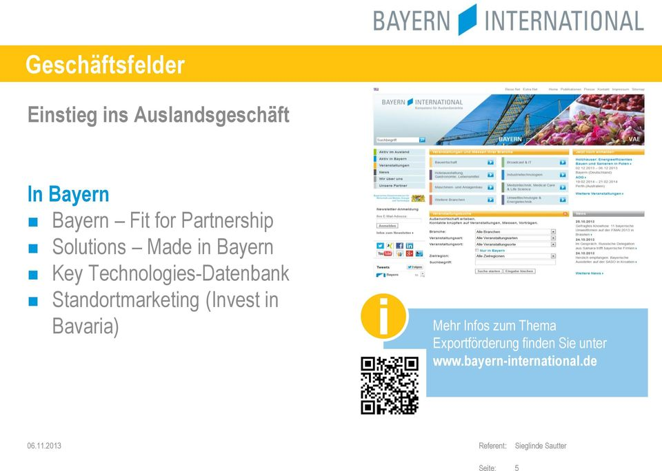 Technologies-Datenbank Standortmarketing (Invest in Bavaria) i