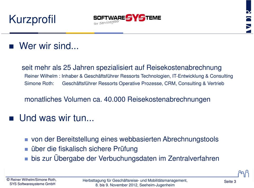 Technologien, IT-Entwicklung & Consulting Simone Roth: Geschäftsführer Ressorts Operative Prozesse, CRM, Consulting &