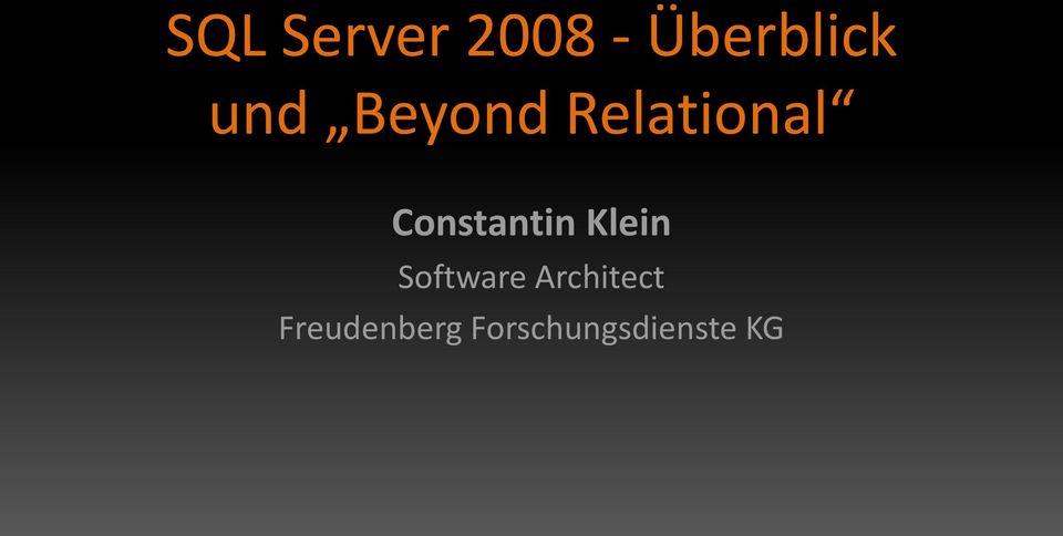 Constantin Klein Software