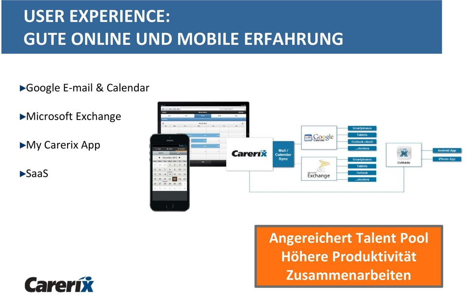 Microsoft Exchange My Carerix App SaaS