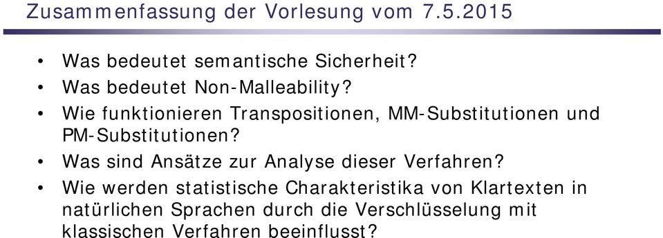 Wie funktionieren Transpositionen, MM-Substitutionen und PM-Substitutionen?