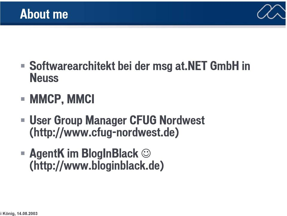 Manager CFUG Nordwest (http://www.
