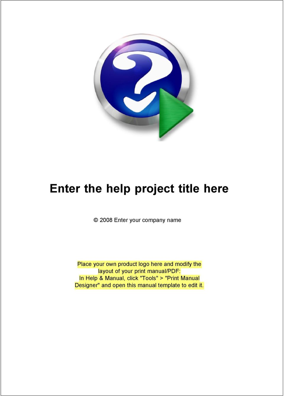 "manual/pdf: In Help & Manual, click ""Tools"" > ""Print"
