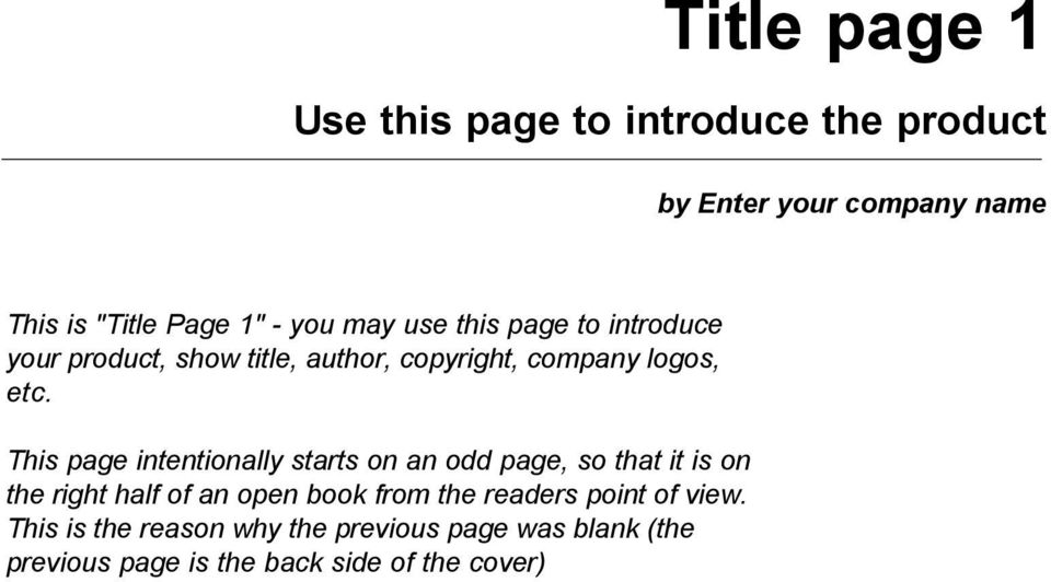 This page intentionally starts on an odd page, so that it is on the right half of an open book from the