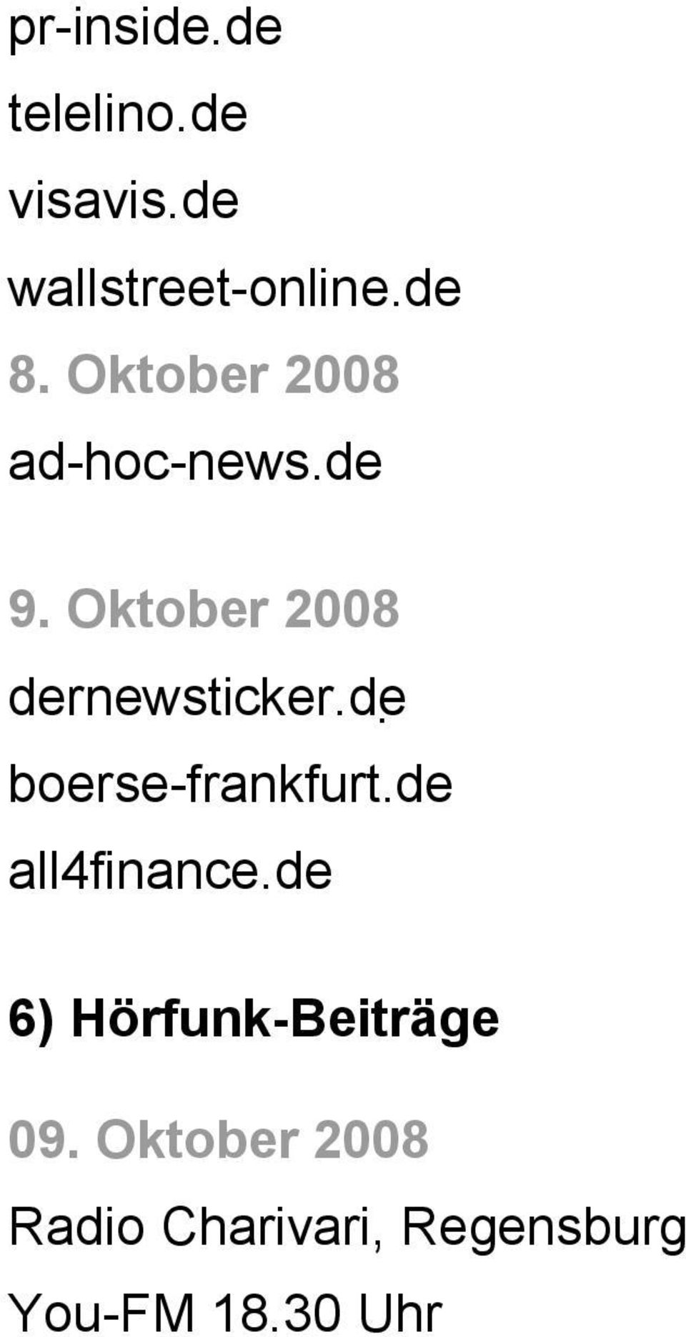 de boerse-frankfurt.de all4finance.