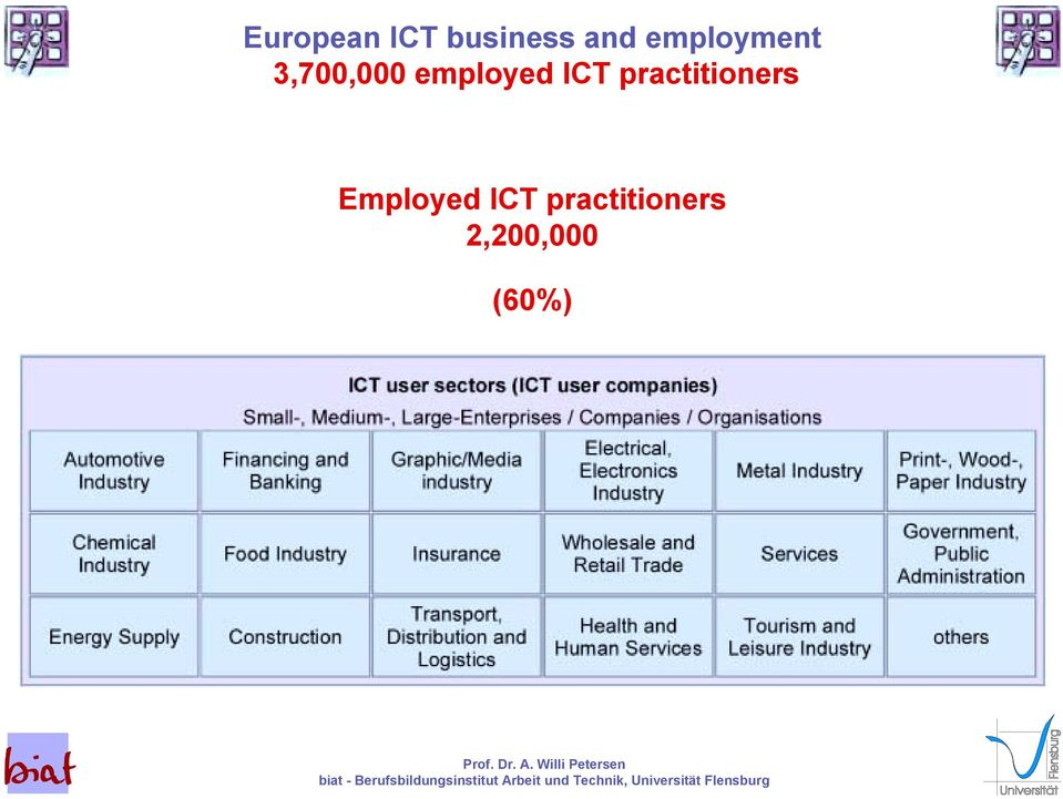 employed ICT practitioners