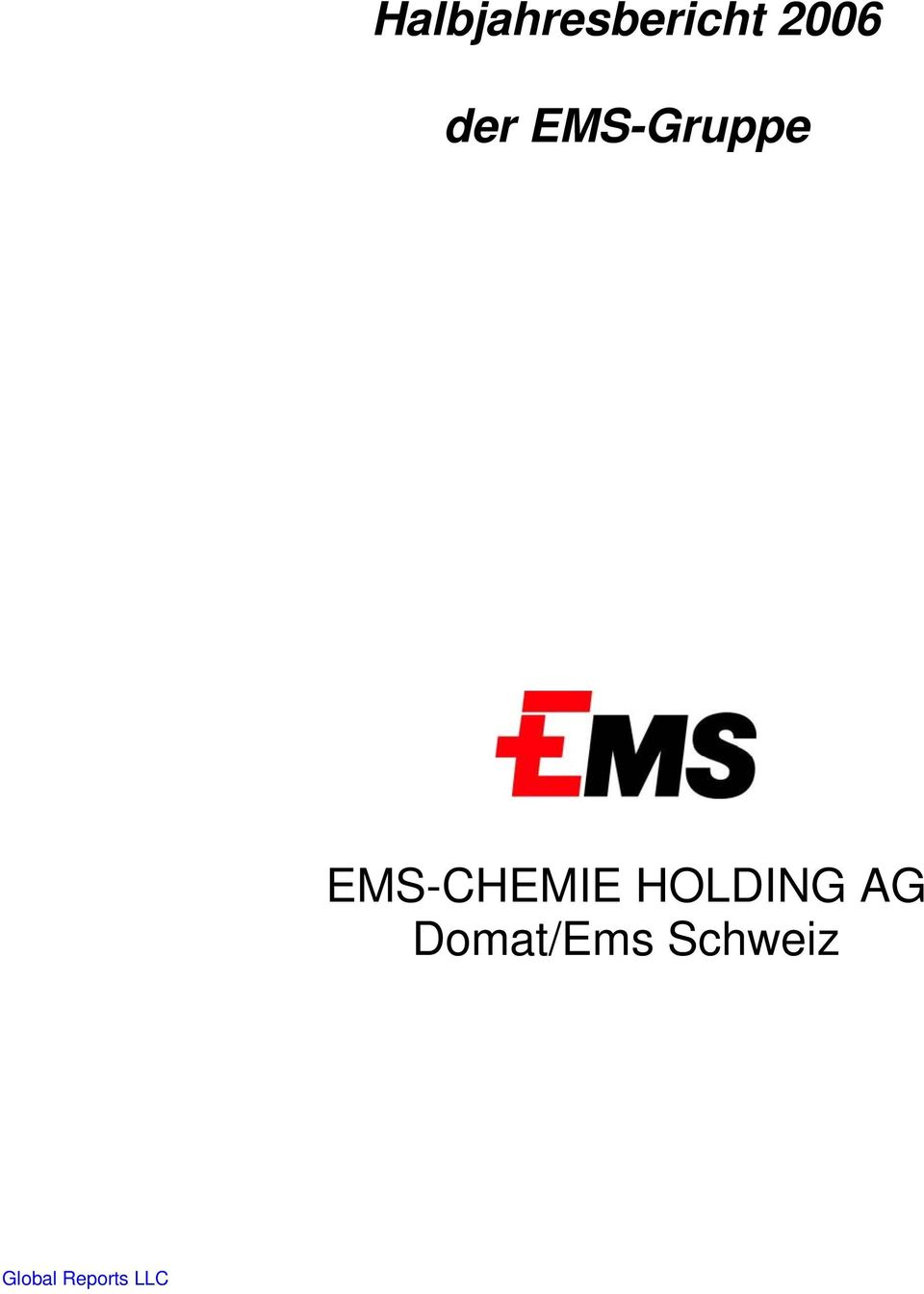 EMS-CHEMIE HOLDING