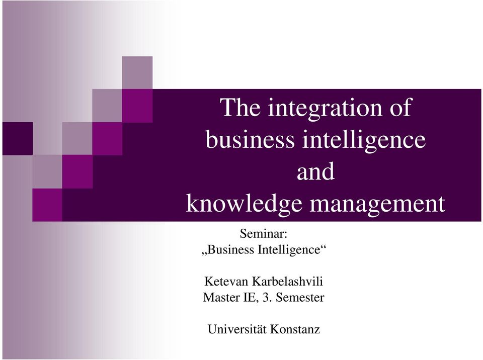 Business Intelligence Ketevan