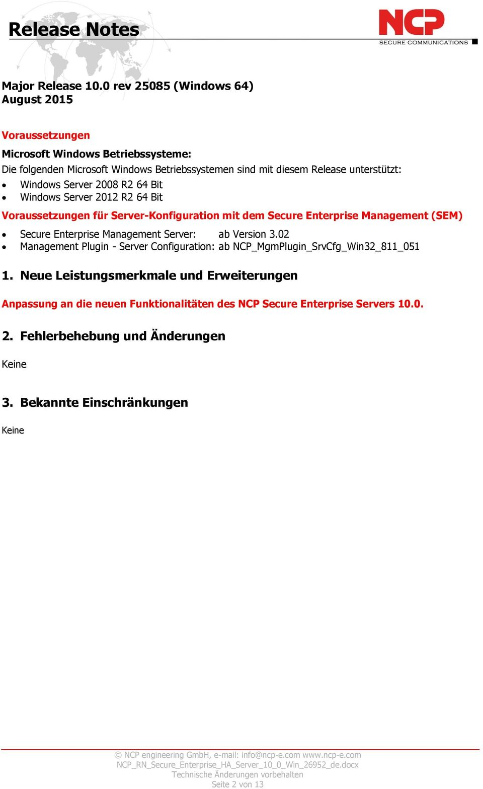 2012 R2 64 Bit Secure Enterprise Management Server: ab Version 3.