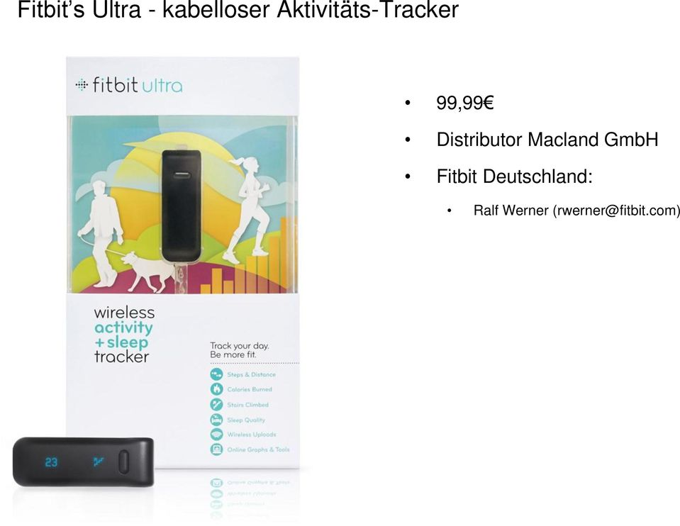 Distributor Macland GmbH Fitbit