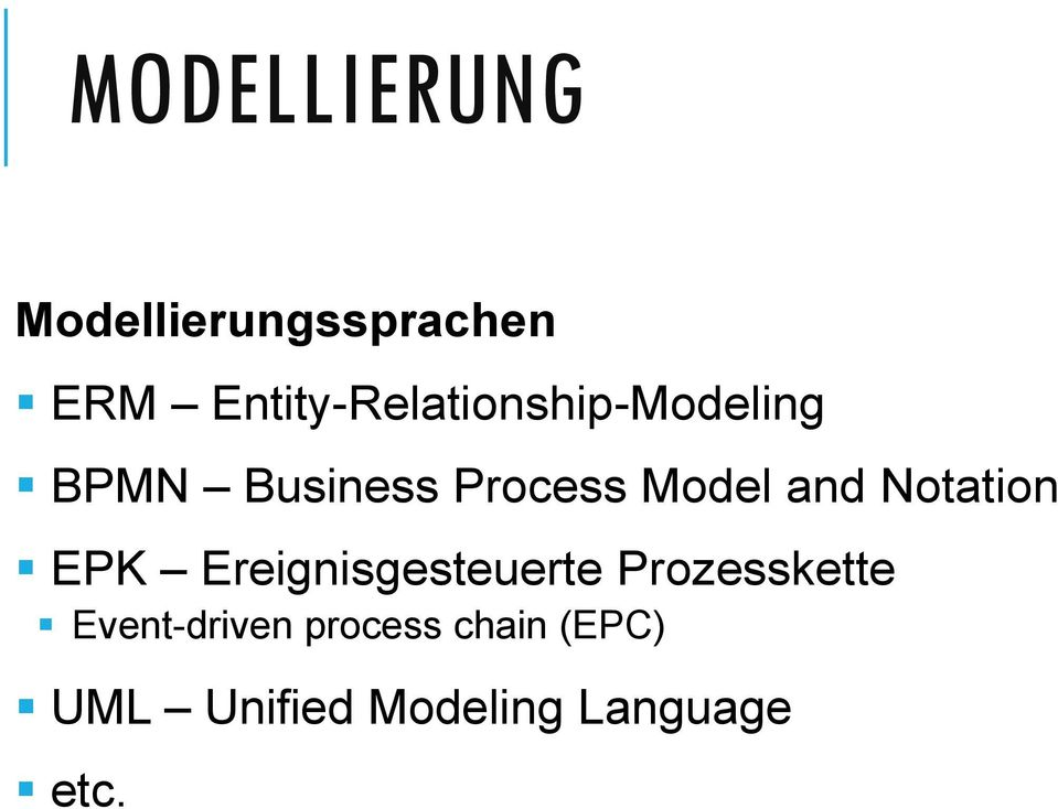 Model and Notation EPK Ereignisgesteuerte