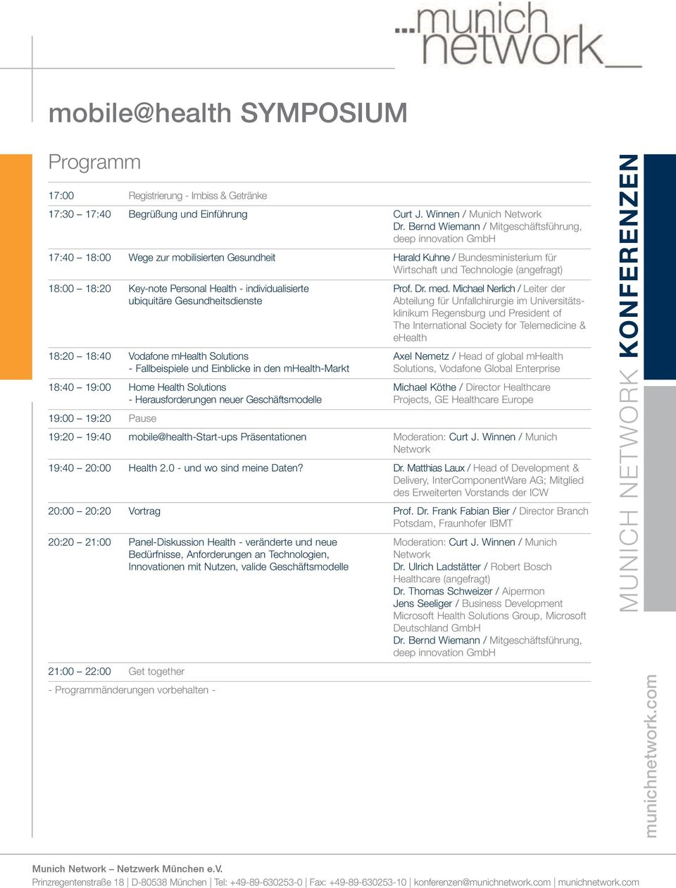 Key-note Personal Health - individualisierte Prof. Dr. med.