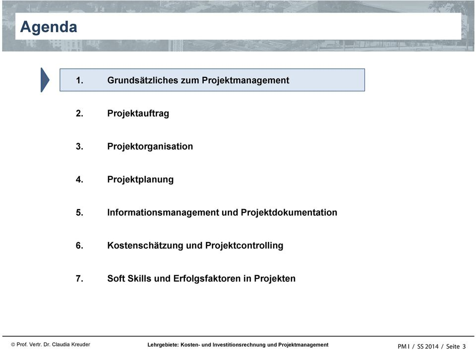 Informationsmanagement und Projektdokumentation 6.