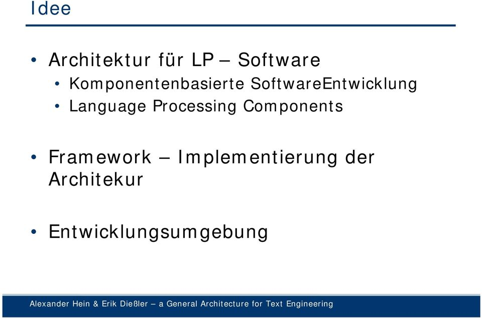 Language Processing Components Framework