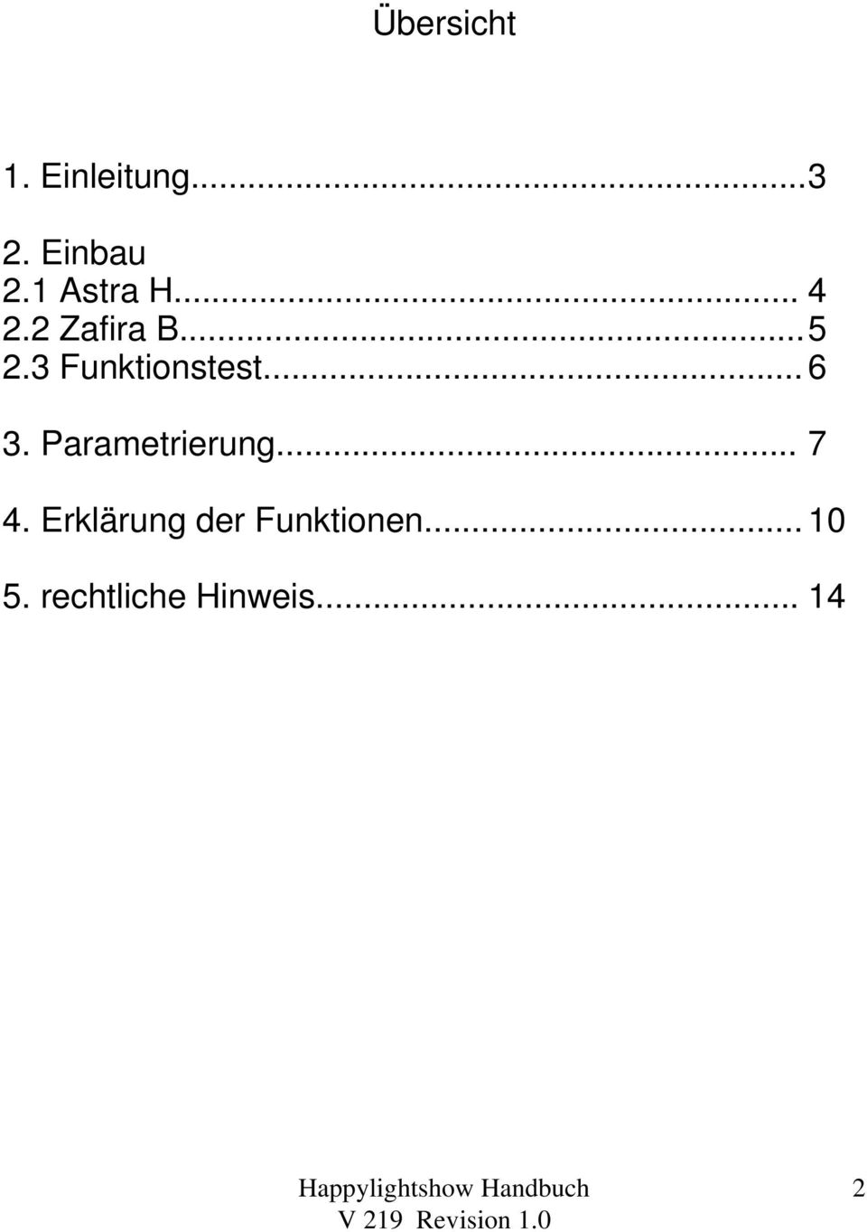 3 Funktionstest... 6 3. Parametrierung... 7 4.