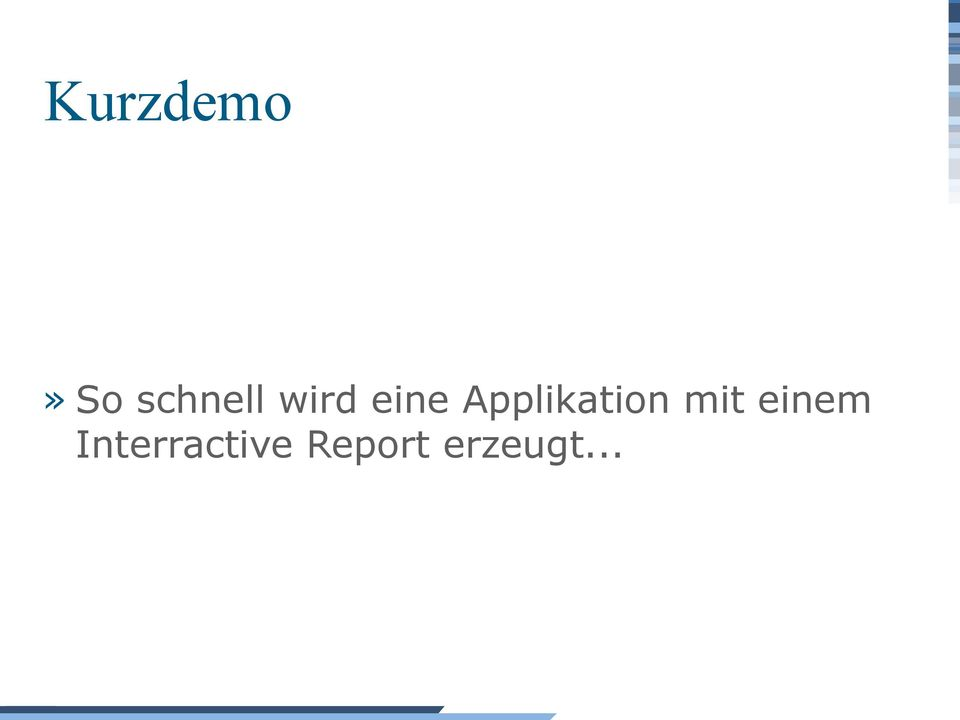 Applikation mit