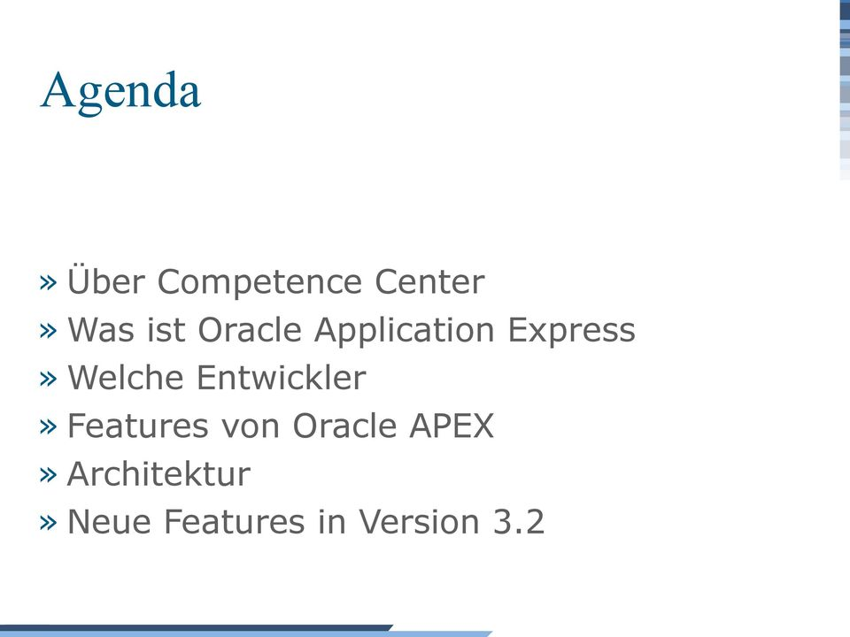 Entwickler» Features von Oracle APEX»