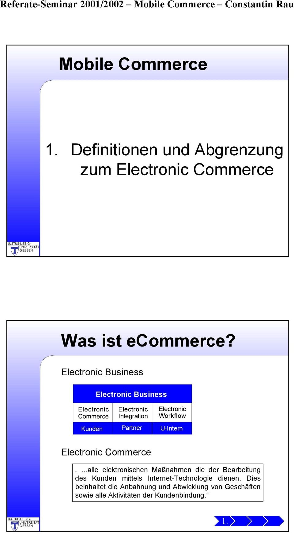 U-Intern Electronic Commerce.