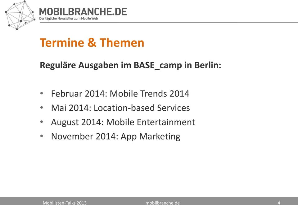 Location-based Services August 2014: Mobile