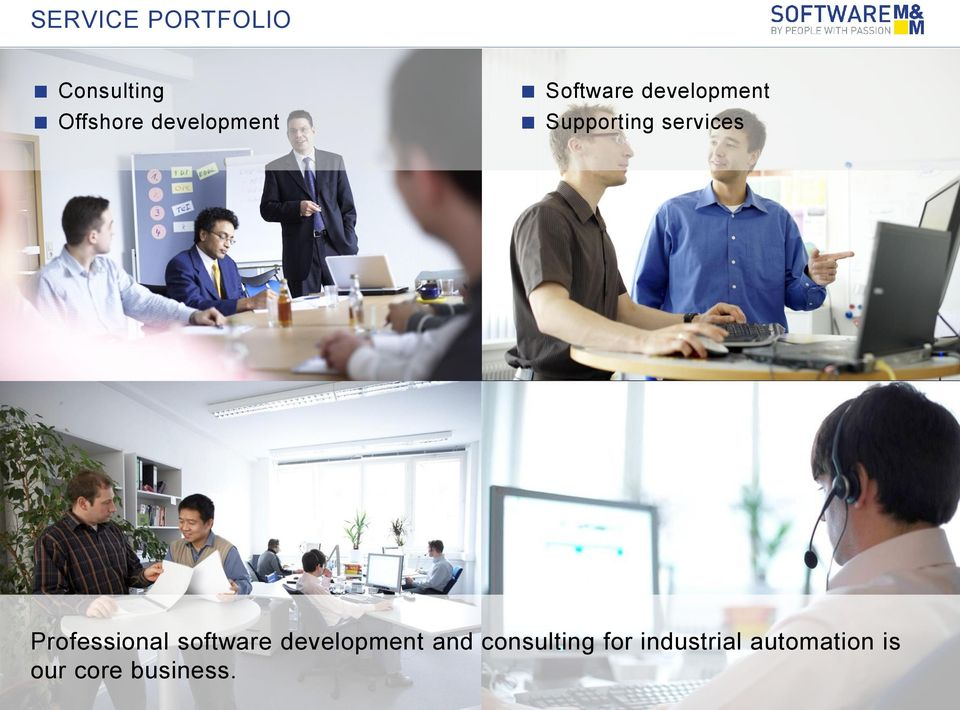 services Professional software development and