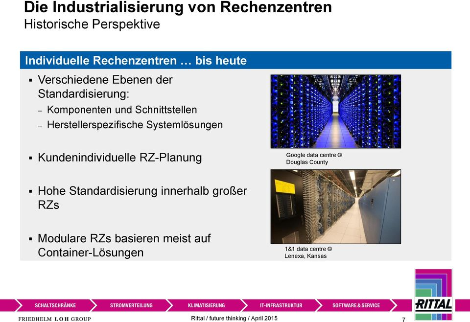Kundenindividuelle RZ-Planung Google data centre Douglas County Hohe Standardisierung