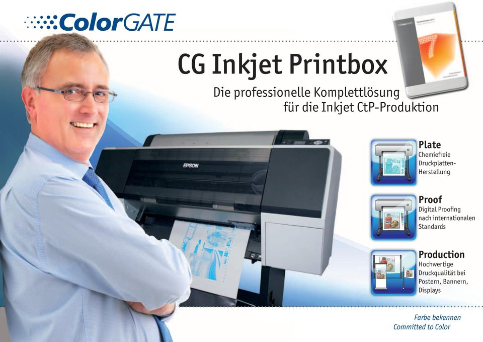 Herstellung Proof Digital Proofing nach internationalen