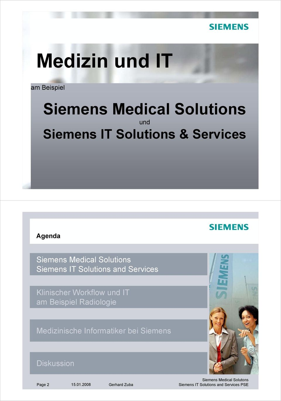 Solutions Siemens IT Solutions and Services am Beispiel