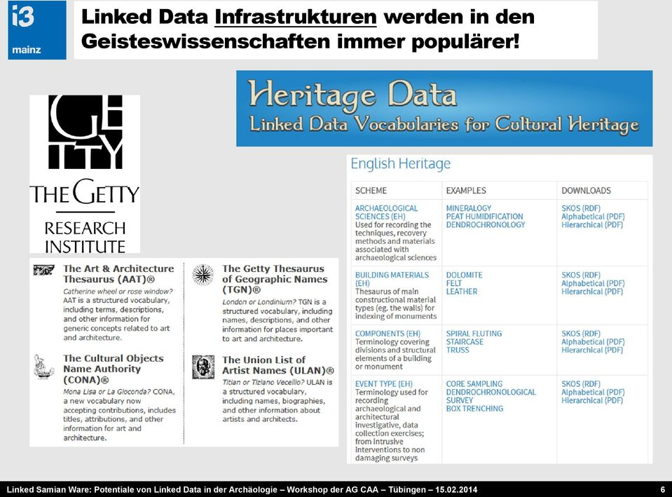 Linked Samian Ware: Potentiale von Linked Data