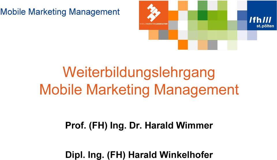 (FH) Ing. Dr. Harald Wimmer Dipl.