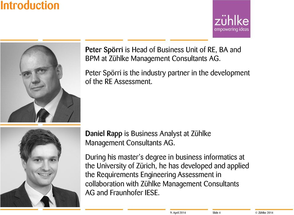 Daniel Rapp is Business Analyst at Zühlke Management Consultants AG.
