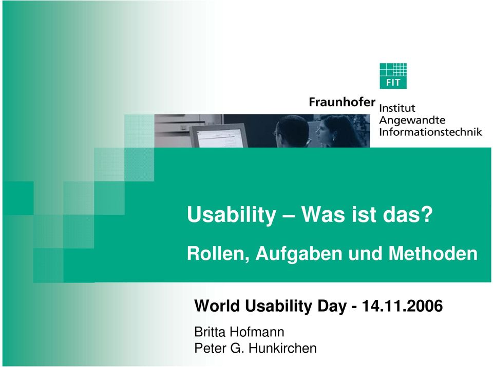 World Usability Day - 14.11.