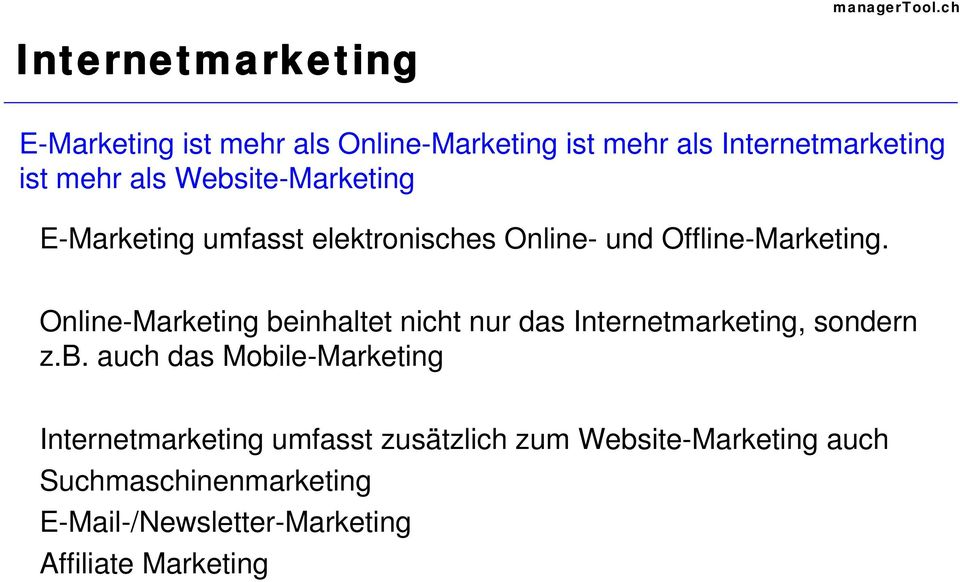 Online-Marketing be