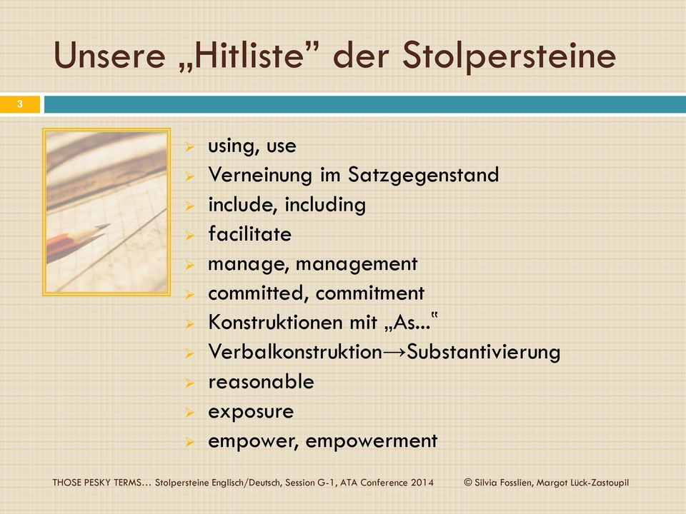 management committed, commitment Konstruktionen mit As.