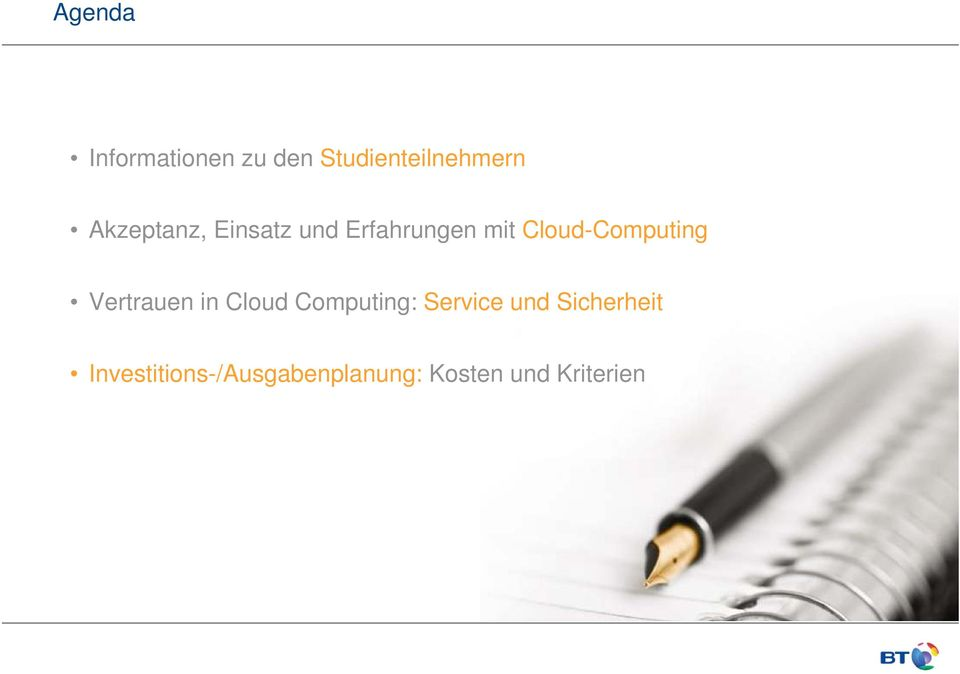 Cloud-Computing Vertrauen in Cloud Computing: