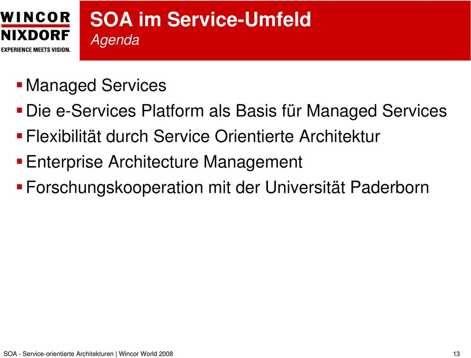 Service Orientierte Architektur Enterprise Architecture