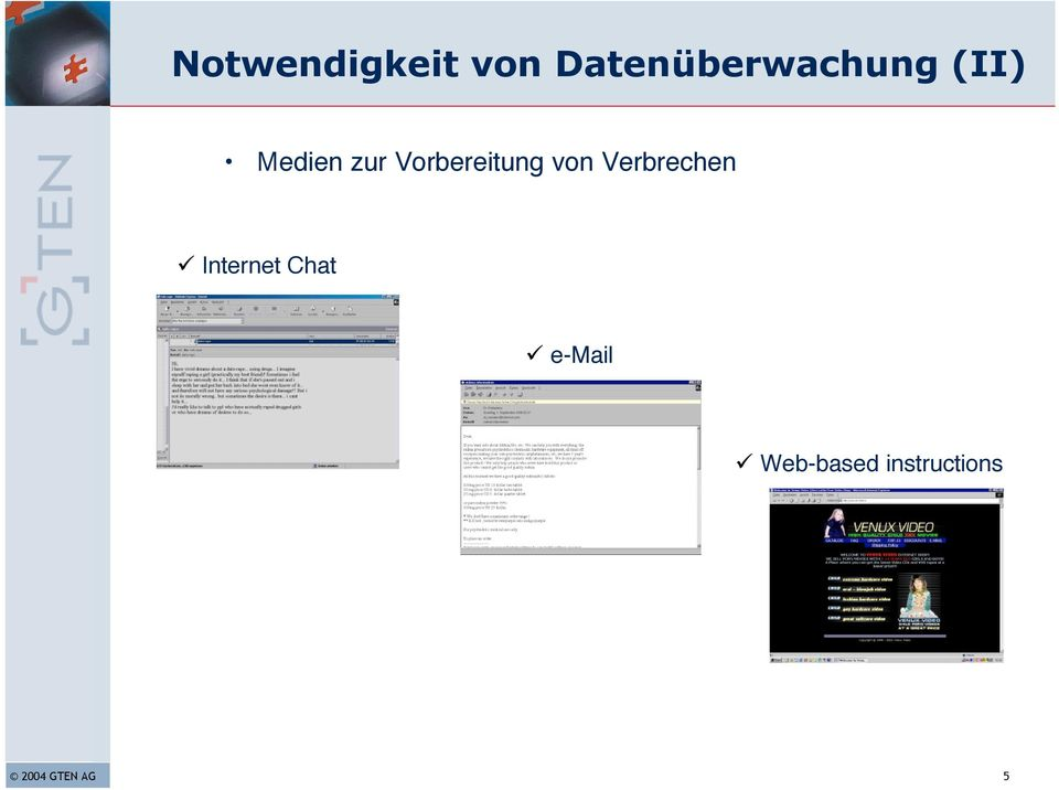 Verbrechen Internet Chat e-mail