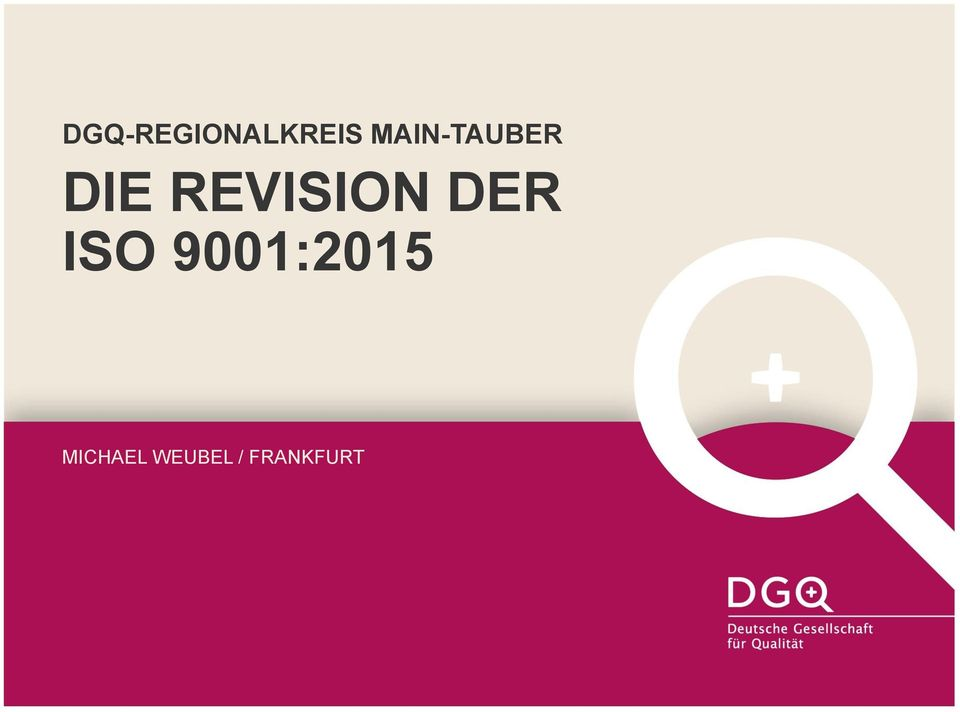 REVISION DER ISO
