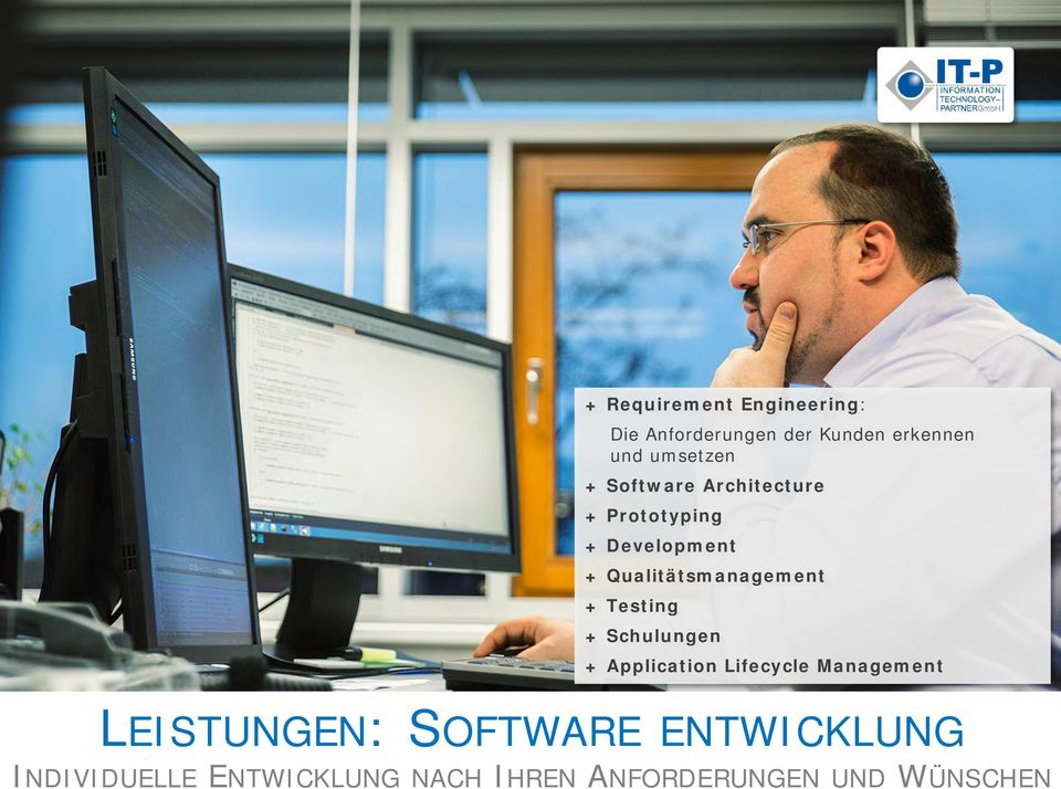Qualitätsmanagement + Testing + Schulungen + Application Lifecycle