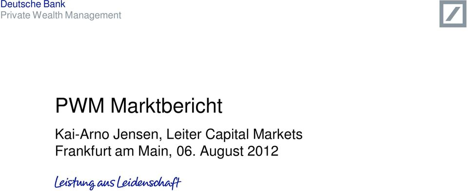 Leiter Capital Markets
