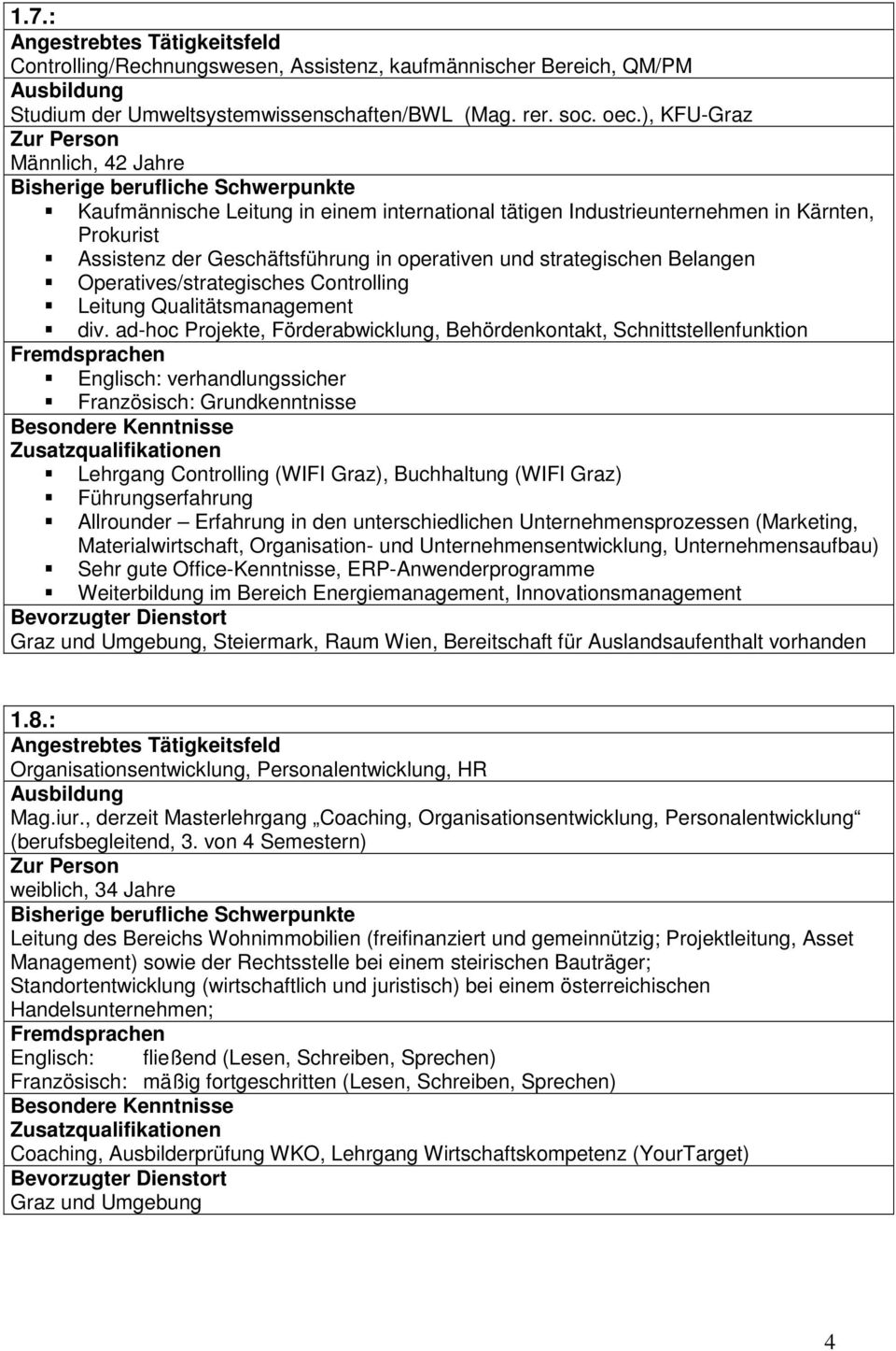 Operatives/strategisches Controlling Leitung Qualitätsmanagement div.