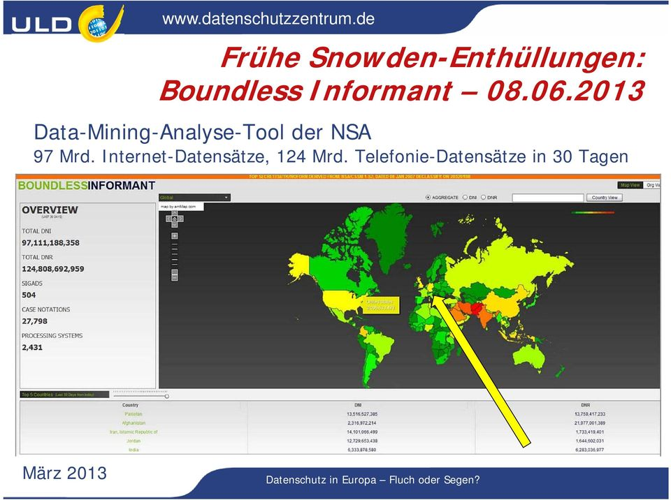 2013 Data-Mining-Analyse-Tool der NSA 97