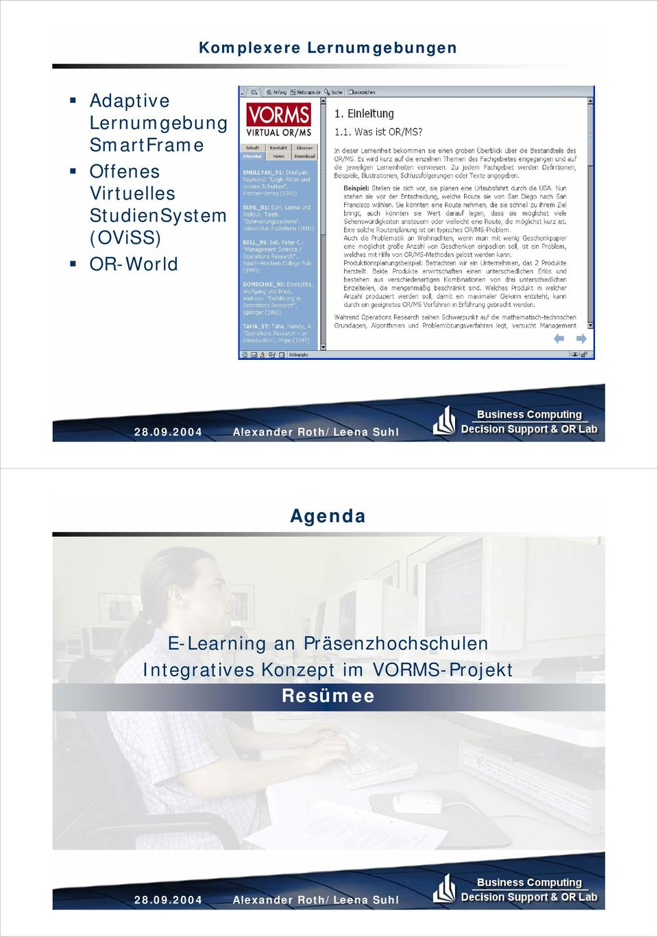 OR-World Agenda E-Learning an Präsenzhochschulen