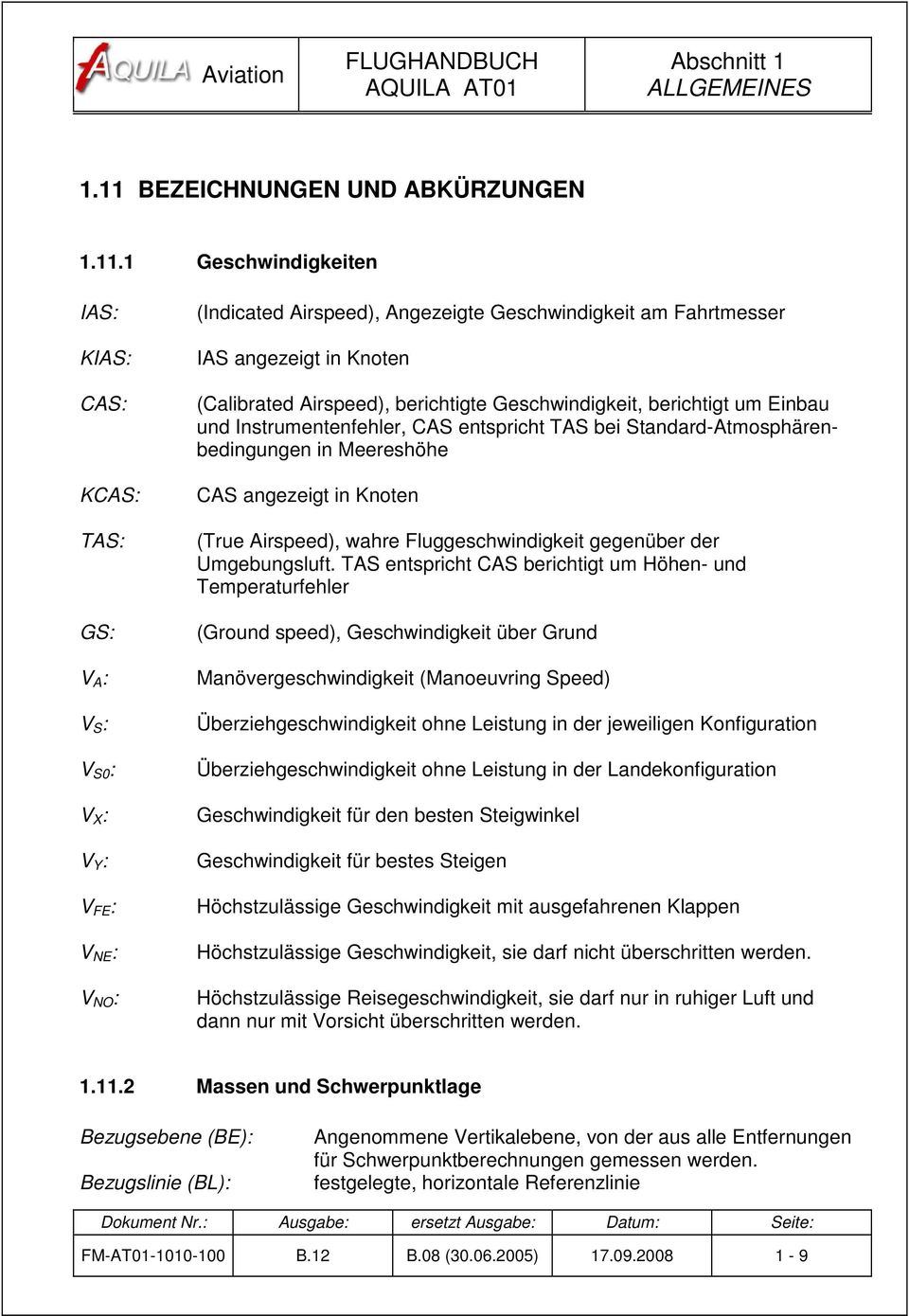 Aviation by excellence ag pdf for Geschwindigkeit in knoten