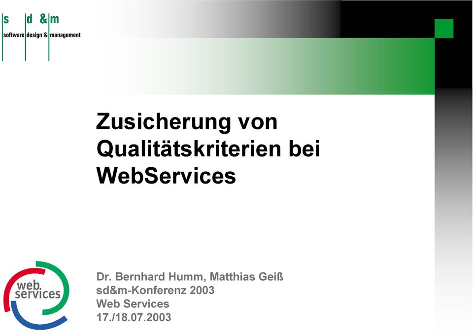 WebServices Dr.